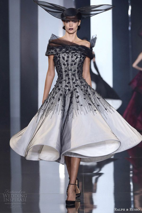 Ralph & Russo Couture Fall-Winter 2014-2015 | black and white dress