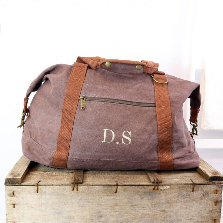 personalised vintage canvas weekend holdall bag by duncan stewart textiles | notonthehighstreet.com