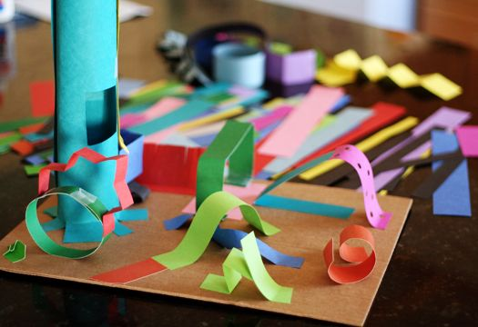 WEEK 8 - Standard 2.2 Demonstrate beginning skill in the use of tools and processes, such as the use of scissors, glue, and paper in creating a three-dimensional construction.