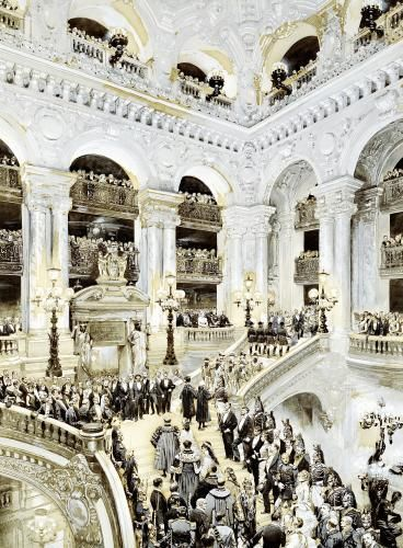 Inauguration of the Paris Opera House 1878 Art Print by Jean-Baptiste Edouard Detaille Easyart.com