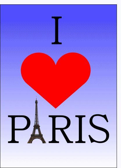 Carte I love Paris pour envoyer par La Poste, sur Merci-Facteur !