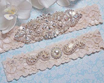 Teal wedding garter plus size bridal garter belt lace