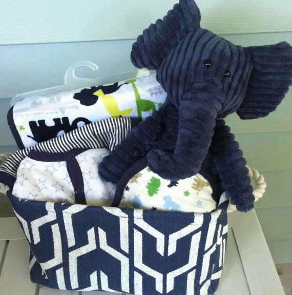 85 best five brown monkies images on pinterest baby shower gifts navy and white elephant baby gift basket by fivebrownmonkies unisex negle Images