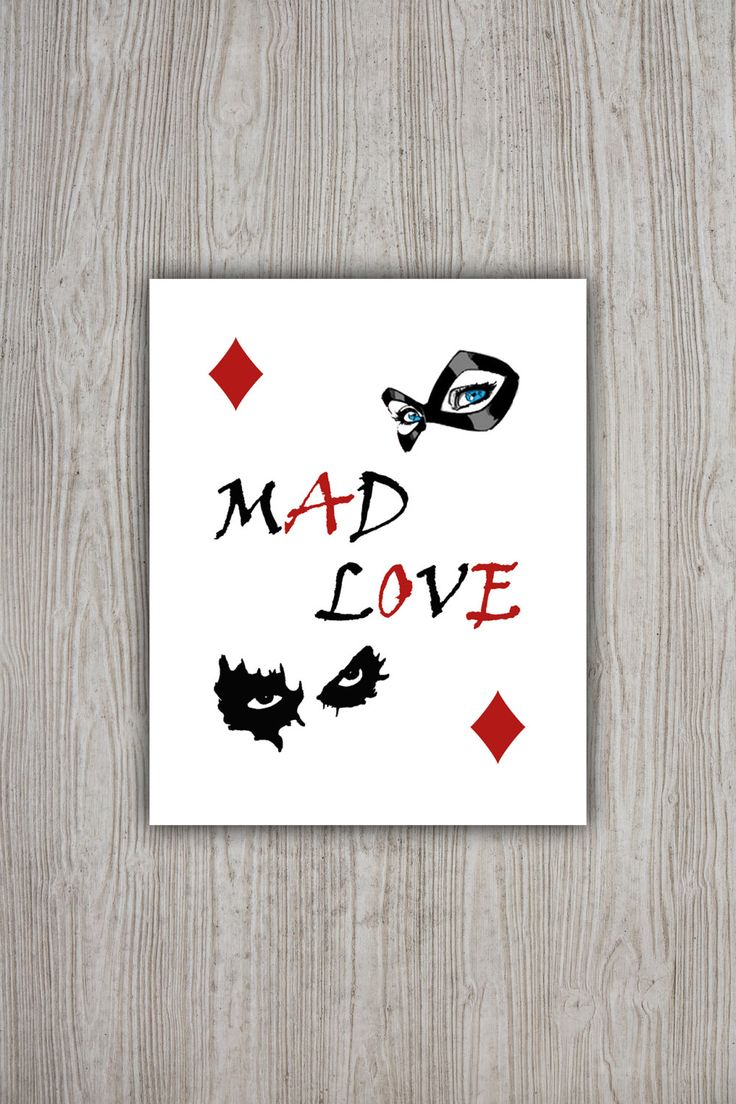 Harley Quinn Poster, DC Comics Batman Movie Poster, Mad Love Harley Quinn Joker…