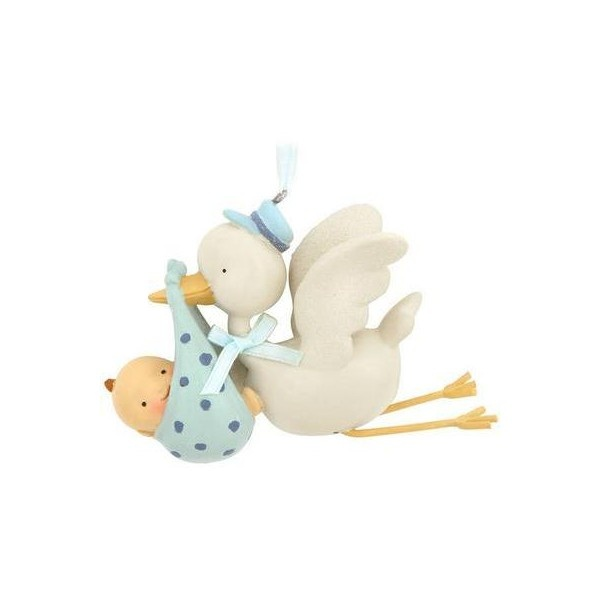 Blue Stork Baby Boy Delivery Ornament - Baby & New Parents - Christmas Ornaments - Bronner's CHRISTmas Wonderland found on Polyvore