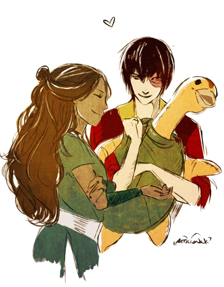 """articianne: """"a $5 fiddle for @lariren-shadow, who wanted ... Zuko And Aang Yaoi"""