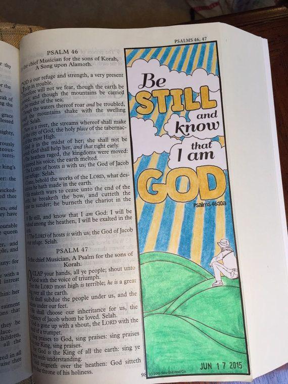 Bible Journaling Margin Art 'Be still snd know by SewBitandCo