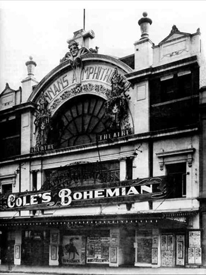 . the 1852 Palace Theatre on Bourke Street will make a way for a hotel-apartment building.