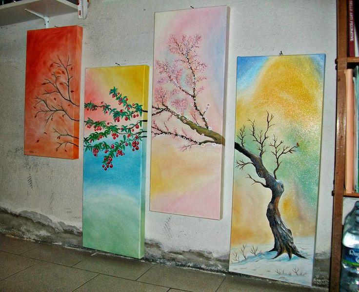 """Paintings: Quadro """"L'albero in quattro stagioni"""""""