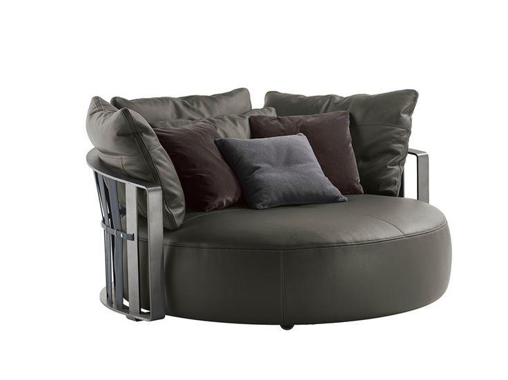 Round sofa SCARLETT by Poltrona Frau design Jean-Marie Massaud