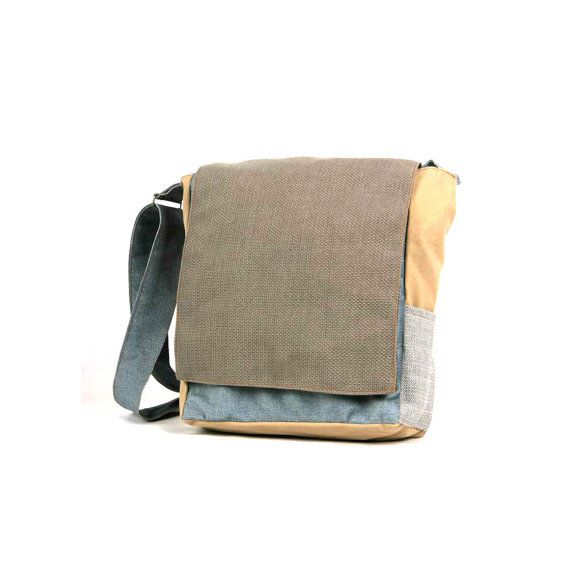 3-Colors iPad Messenger Bag, waterproof messenger, waxed canvas bag, custom messenger bag, cute messenger bag, canvas book bag, CollegeMTag2