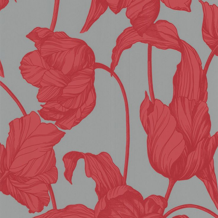 Graham & Brown Laurence Llewelyn-Bowen Harem Tulips Coral Wallpaper. #laylagrayce #new #wallpaper