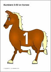 Paarden voor getallenlijn nr 1-50