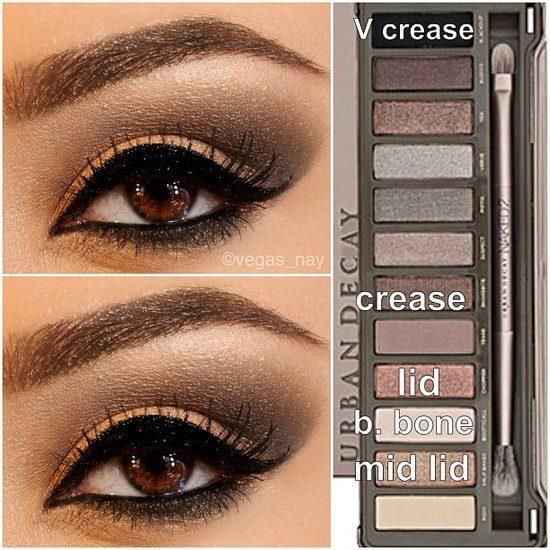 Eyeshadow look with Naked 2 Palette. I'm afraid if I do it I'll look like a racoon