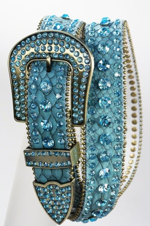 Country Girl Fashions, LLC - Crystal Studded Leather Belt Turquoise, $59.00 (http://www.countrygirlfashionsonline.com/products/crystal-studded-leather-belt-turquoise.html)