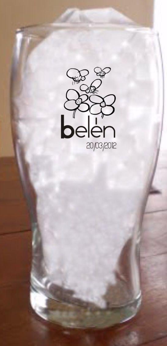 Los vasos del cumple de belen