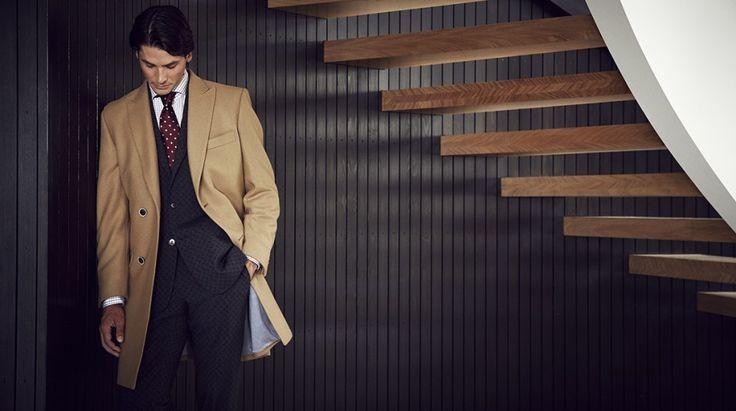 Drummond coat BN20/14, Lewis jacket & Astor trouser BO73/89, Brosnan shirt SZ43/85, Silk tie TIE72-45  https://shop.rembrandt.co.nz/