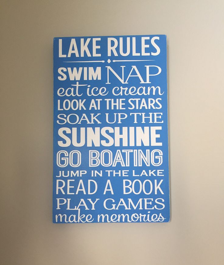 Lake rules wooden sign - lake home decor - lake house sign - life is better at the lake sign -  wooden vacation sign - lake rules sign by jasmineblossomcrafts on Etsy https://www.etsy.com/listing/524067743/lake-rules-wooden-sign-lake-home-decor