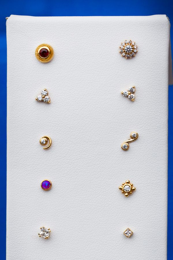 A variety of 14k Yellow Gold pieces Born This Way Body Arts @http://bornthiswaybodyarts.com/alljewelry/