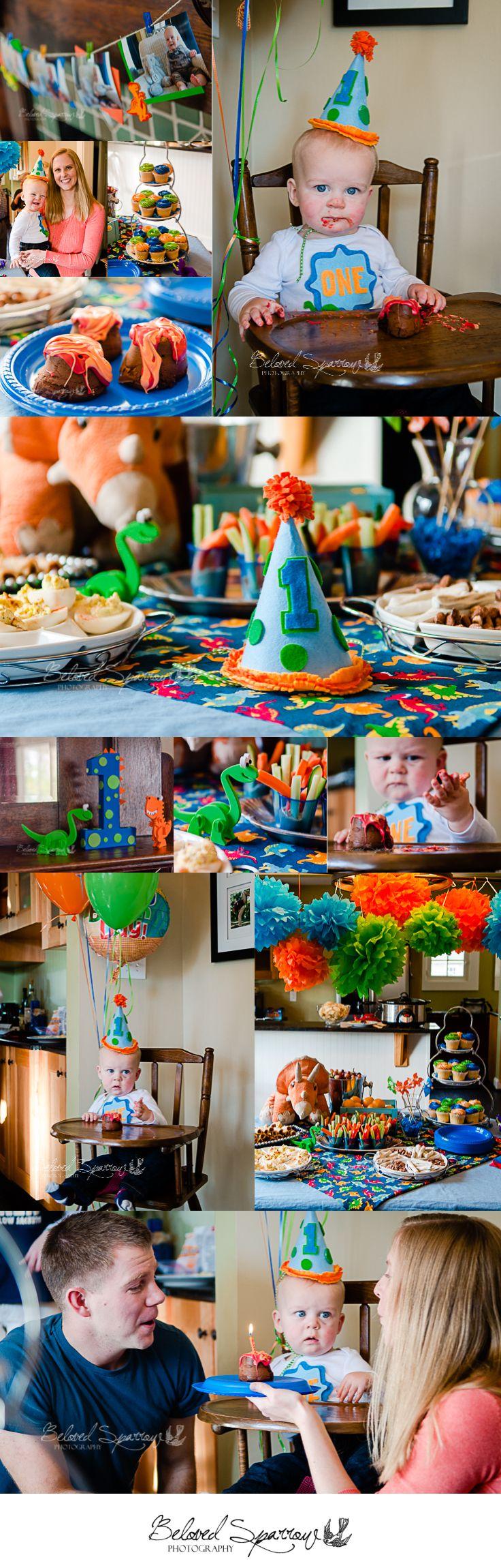 Metro Atlanta First Birthday Photographer  |  Beloved Sparrow Photography  |  Peachtree City Georgia  |  Dinosaur Birthday Party  |  Toddler Boy Birthday Party  |  Orange Blue Green www.belovedsparrow.com