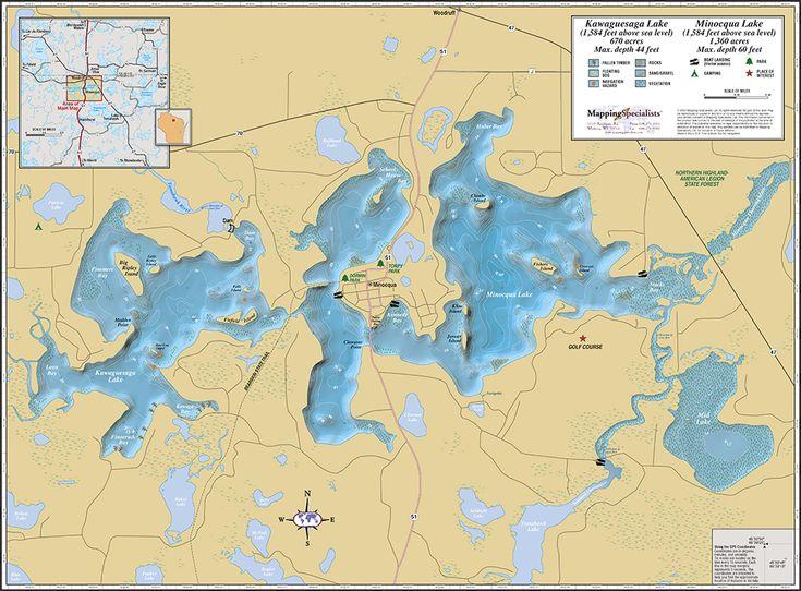 Best Northwoods Living Images On Pinterest Wisconsin United - Us map fold