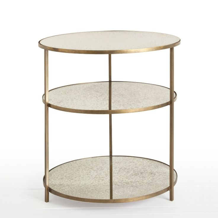 Round glass bedside table sevenstonesinc 67 best gueridon images on pinterest occasional tables side watchthetrailerfo