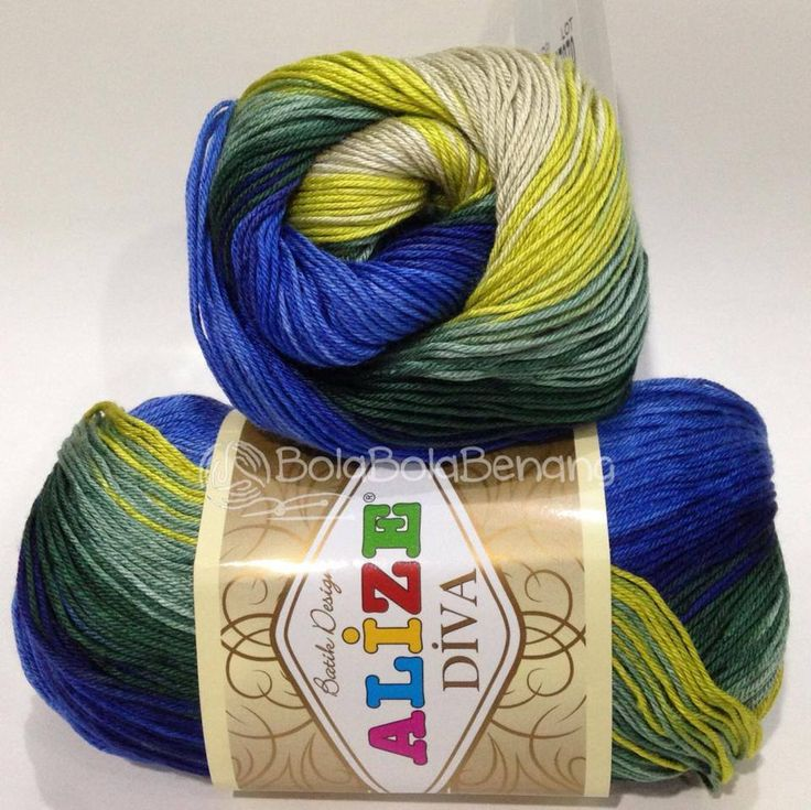 ALIZE DIVA BATIK 3306, Price: 90.000,-/gulung, Bahan: 100% Microfiber Akrilik, Berat/Panjang: 100gr/350m, Knitting Needles: 2,5mm – 3,5mm, Crochet Hook: 1mm - 3mm