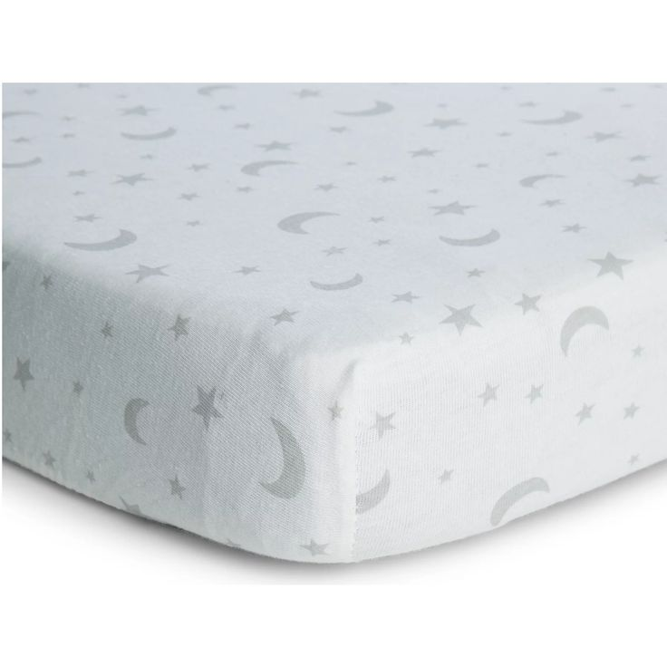 Moon And Stars Moses Cot Bed Fitted Sheets 2 Pack Cot Bedding