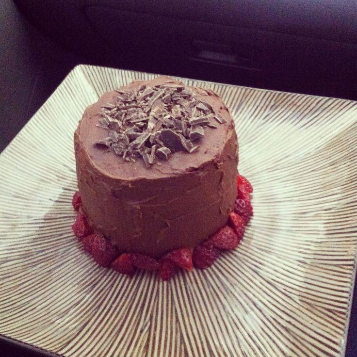 Chocolate salted caramel mud cake