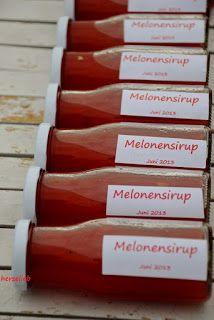 Melonensirup - Sommer in der Flasche - herzelieb