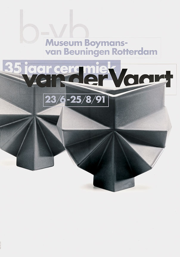 8vo. Museum Boymans-van Beuningen Rotterdam, exhibition poster, 1991. From 8vo On the Outside, Lars Müller, 2005