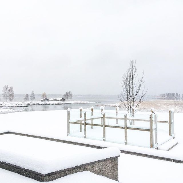 First snow at our HQ in Korsnäs <3