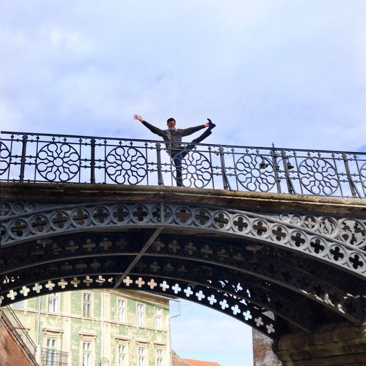 The Bridge of Lies in Sibiu, Romania.   #YogaTip: Often we tell ourselves lies about what we can or can't do in yoga. What lies do you tell yourself that are keeping your from the full adventure of your yoga practice? Of your life? | Yoga Tips | Adventure Yoga | Yoga