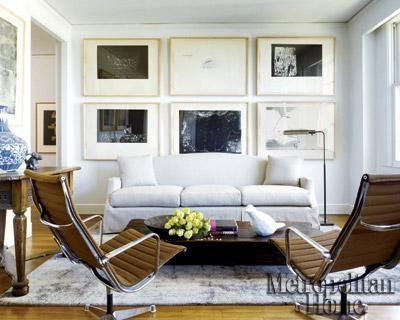 wall art: Wall Art, Living Rooms, Idea, Elle Decor, Large Frames, Galleries Wall, Interiors Design, Art Wall, Frames Art