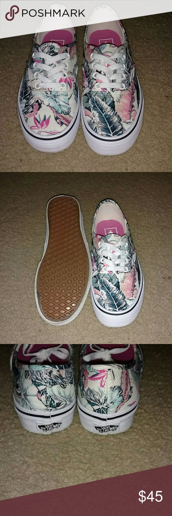 Floral vans Only wore once Vans Shoes Athletic Shoes