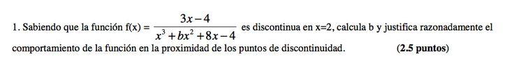 Ejercicio 1B 2006-2007 Setiembre. Propuesto en examen pau de Canarias. Matemática. Continuidad, derivabilidad y representación de funciones. Límites.