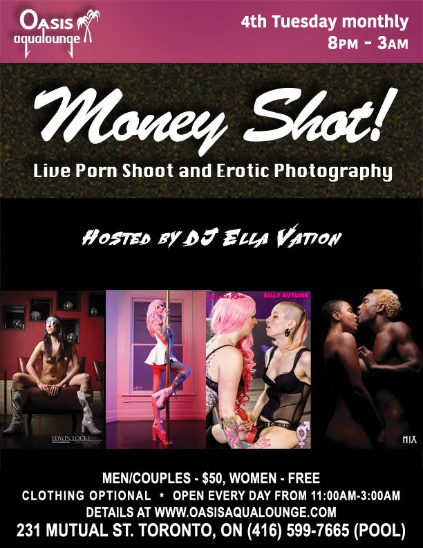 Join porn companies and erotic photographers who will film and photograph live sexual adventures. Observers are welcome to watch live performances.