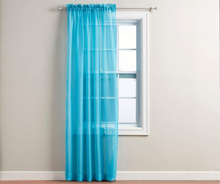 High Quality Turquoise Voile Sheer Curtain Panel, At Big Lots.