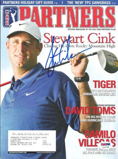 Stewart Cink Autographed 2006 PGA Partners Magazine PSA/DNA