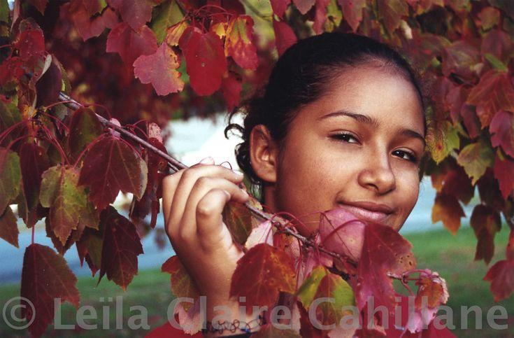 Kinga in red foliage