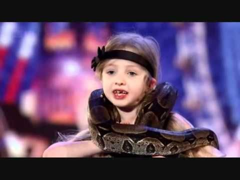 Little girl has a beautiful poem to perform -then she gets her snake!!... and things get really TIGHT!!!