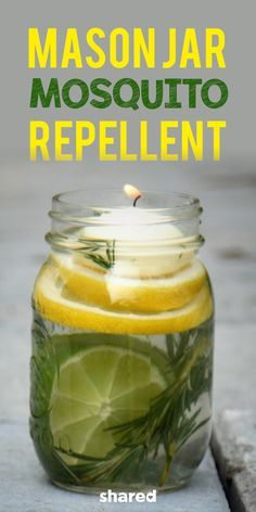 Don't let mosquitoes ruin your summer fun! This all-natural Mason Jar Mosquito Repellent will keep you bug-free at all your picnics, BBQs, parties and family get-togethers. The addition of the lemon eucalyptus oil is what will keep the bugs at bay...meaning you won't end up breathing in any weird chemicals. These repellent jars are also really simple to make, and there's a good chance you already have all the ingredients on hand to whip some up now!