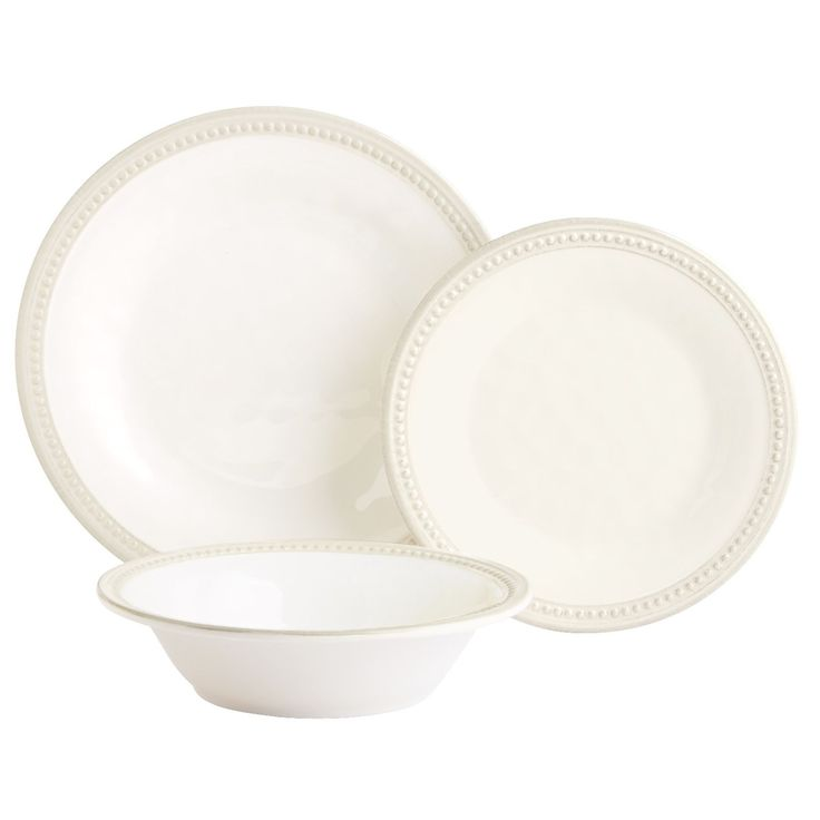 This collection could be the showstopper at your outdoor table or casual get-together. It has the rustic look of hand-shaped, glazed earthenware, with dimpled surfaces and detailed edging. But it's made entirely of shatter-resistant melamine. Easy to mix with outdoor drinkware, serving pieces or even everyday table linens, this is worry-free entertaining at its prettiest.