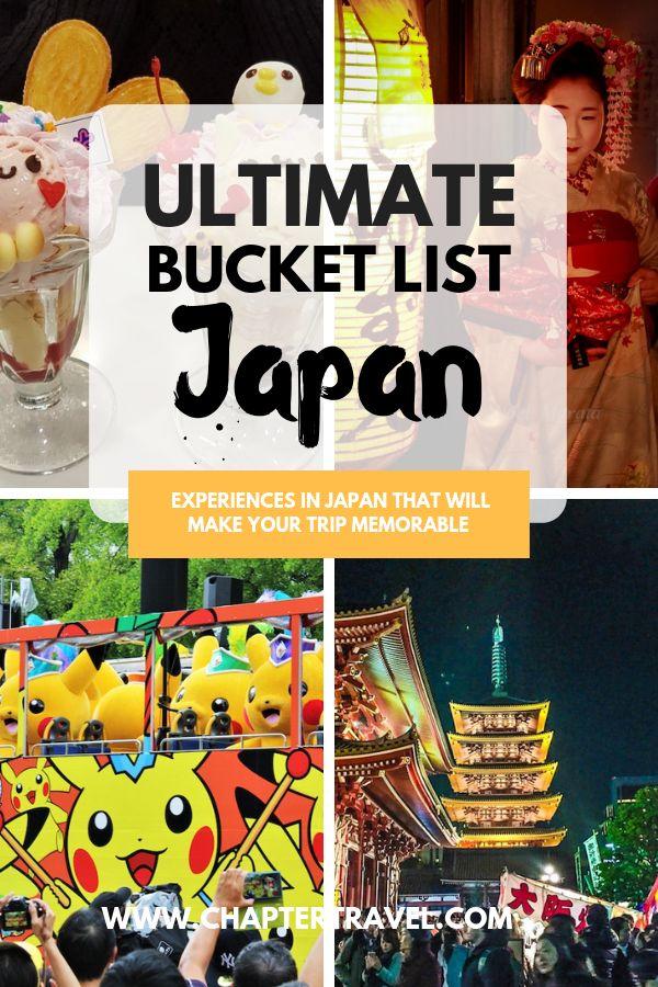 Bucket list japan