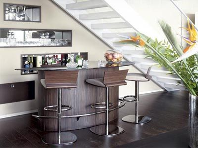 Mini Home Bar Under the Stairs Image 328
