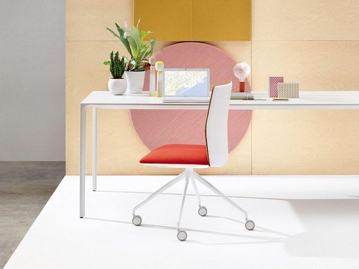 Sedia ufficio operativa girevole Collezione Kinesit by Arper | design Lievore Altherr Molina