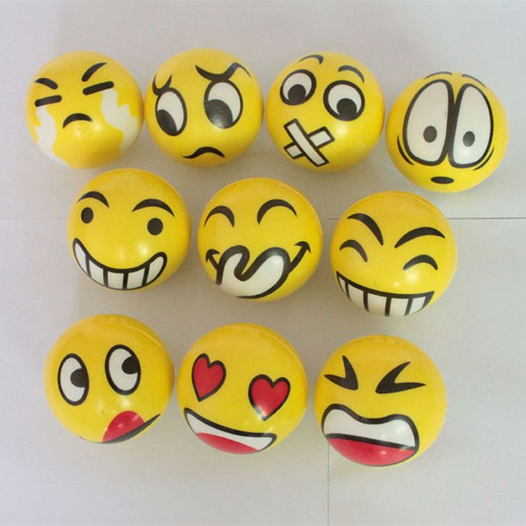 Emoji Smiley Face Anti Stress Relief Autism Mood Squeeze Ball Reliever Toy