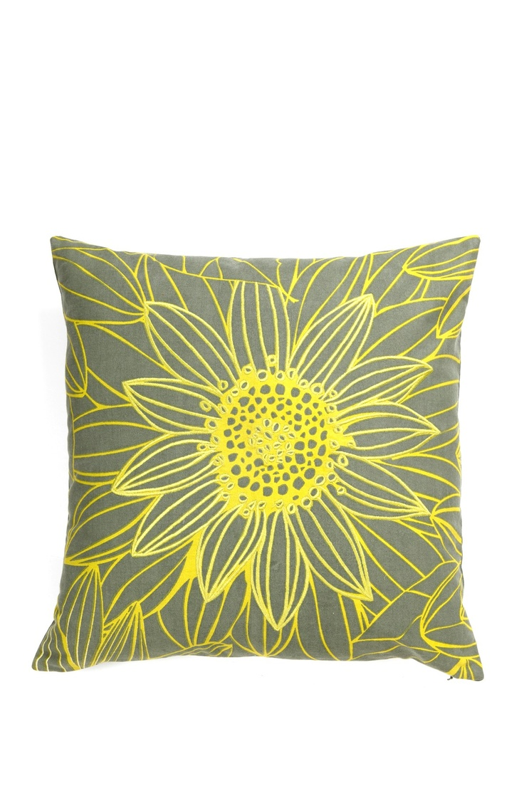 Utilitarian Garden Pillow - Grey/Yellow  I LOVE the colors grey & Yellow together!