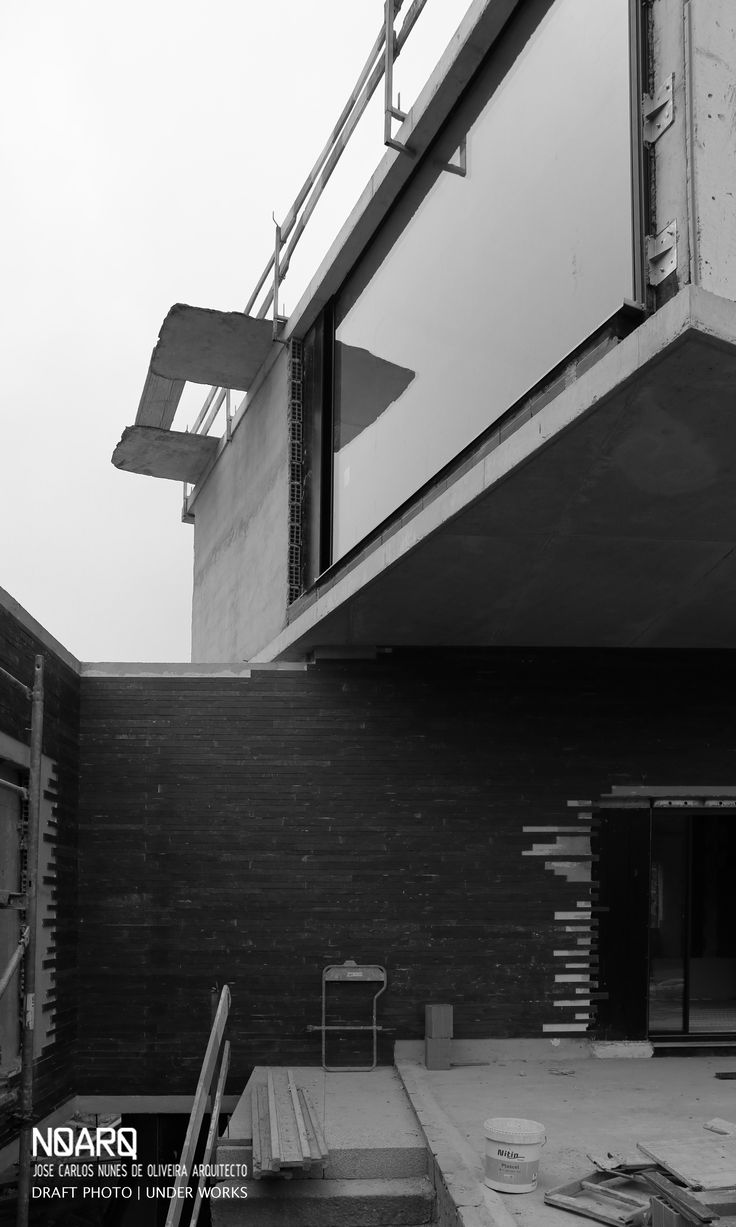 RPFV HOUSE - Draft Photo, under works - #noarq #construction #house #underworks #architecture #slate #greydesign by José Carlos Nunes de Oliveira - © NOARQ