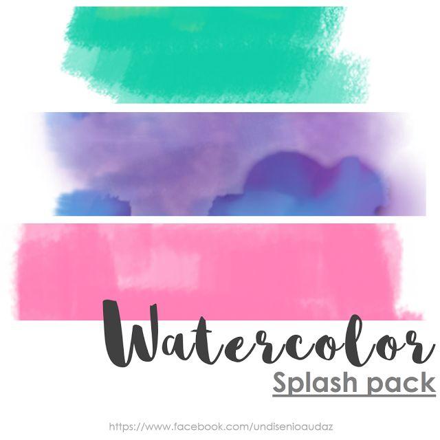 Diseño audaz: Watercolors splash PNG free Fondos Watercolors PNG Splash pack watercolor